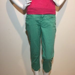 LOFT light green women's Capri shorts size 8